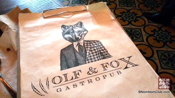Wolf & Fox Menu