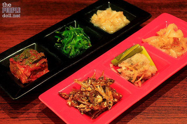 Complimentary and Unlimited Banchan at Ginzadon