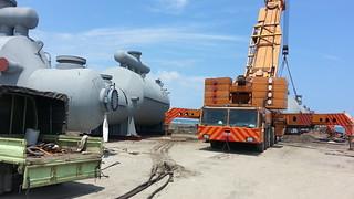 臨時碼頭與器械;圖片提供:桃園在地聯盟