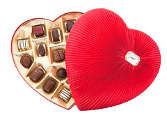 Valentine Chocolates with Clipping Path