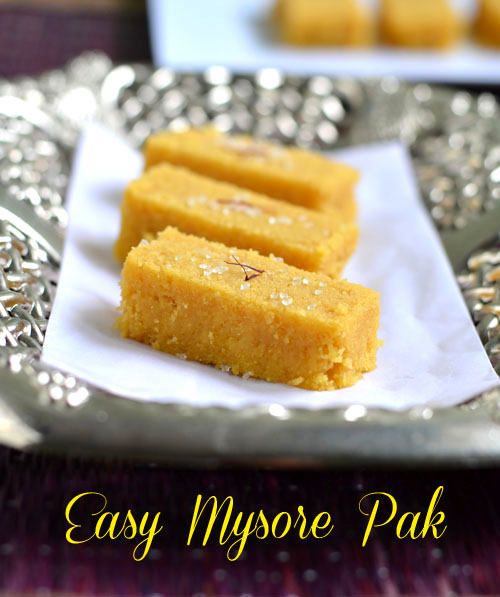Easy microwave mysore pak recipe
