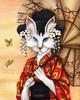 Dragon Kimono Cat Painting