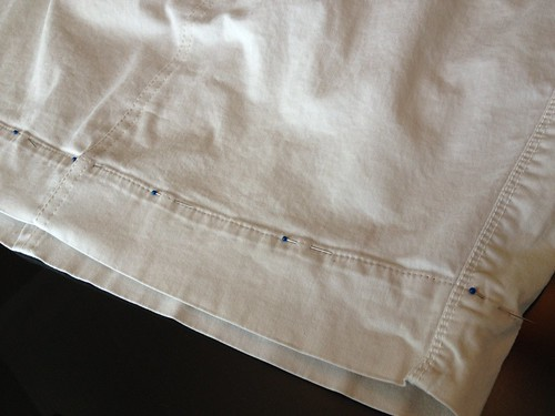 Khaki Skirt - In Progress