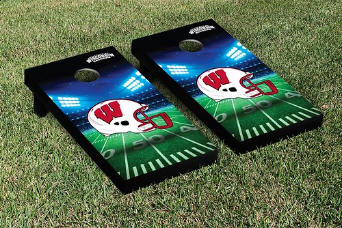 Wisconsin Badgers Cornhole Game Set Stadium Version