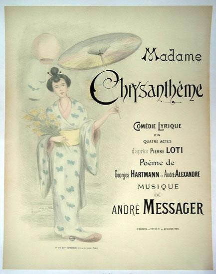 Madame Chrysanthème poster