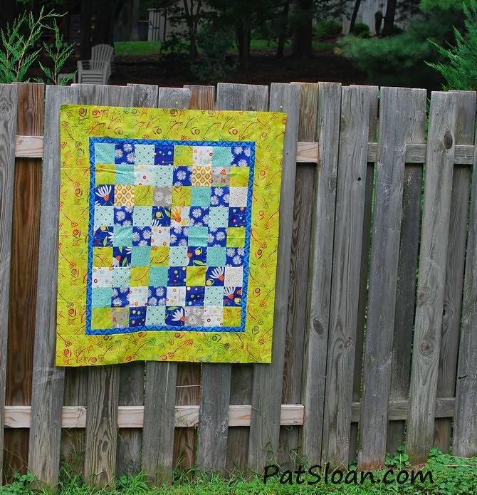 pat sloan scrap square quilt 12