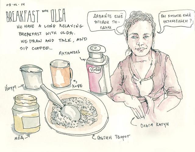 Breakfast with Olga