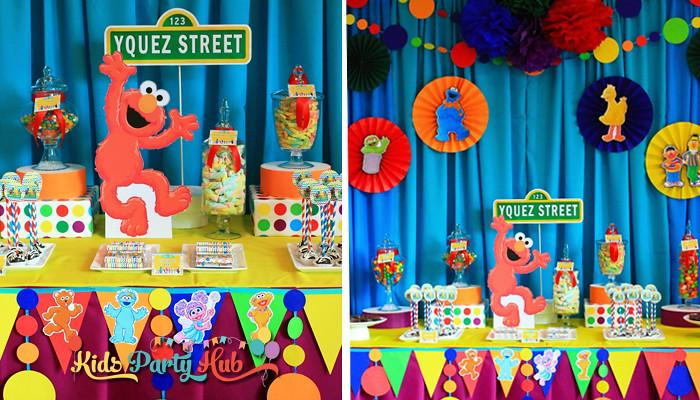 Sesame Street Dessert and Candy Buffet