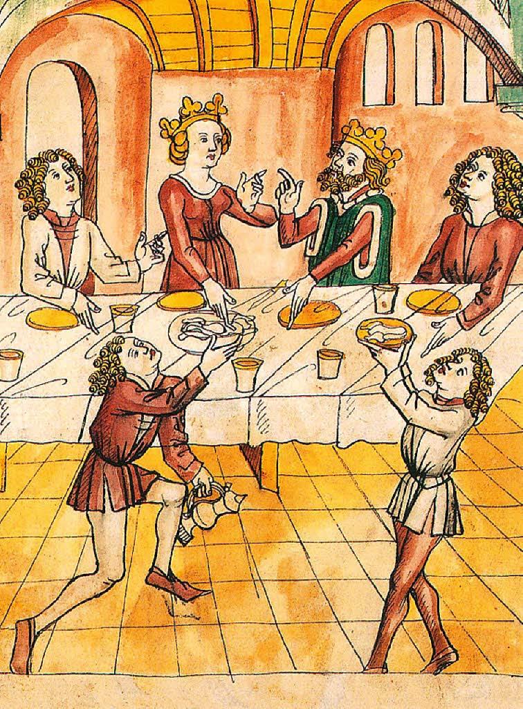 Mittelalterliche Tischsitten. Gutes Benehmen macht Eindruck, Tischsitten sind weiter wichtig, Badische Zeitung 11. November 2013