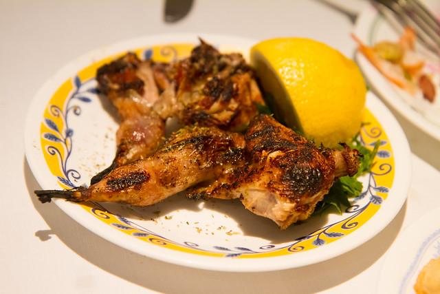 Grilled quail, Zenon Taverna