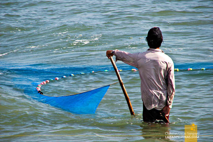 A Fisherman in Mindoro Beach at Vigan City