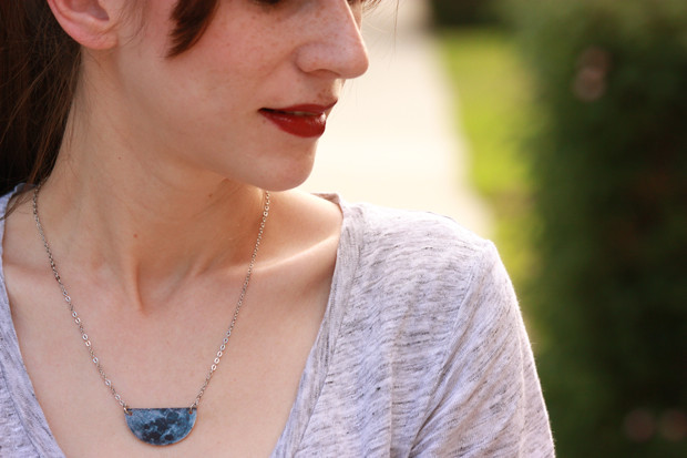InfinEight, Half Moon, handmade necklace