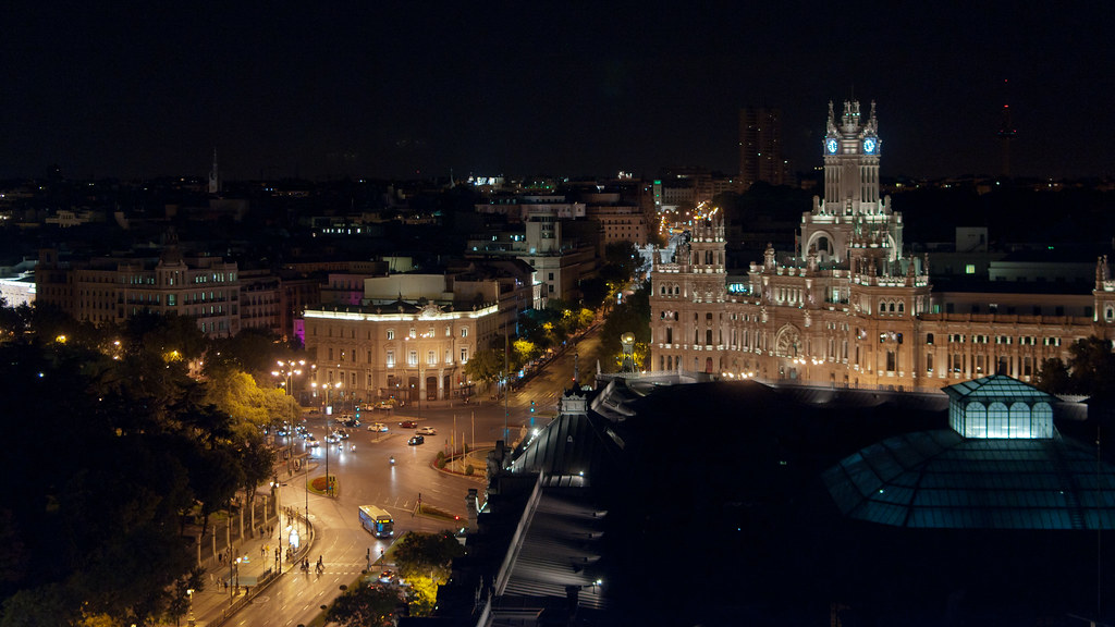 Rincones vistas nocturnas desde la azotea del c rculo de for Terrazas nocturnas madrid