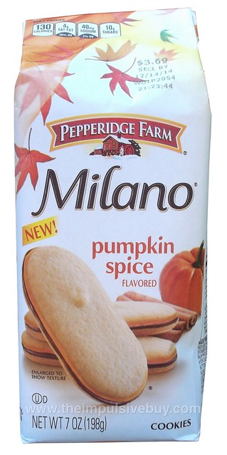 Pepperidge Farm Pumpkin Spice Milano Cookies