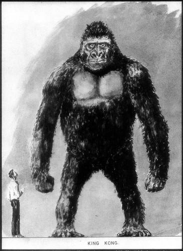 Concept art for King Kong vs. Frankenstein, drawn by Willis O'Brien