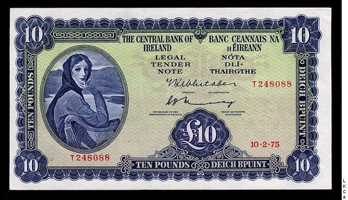 Ireland ten pounds replacement note