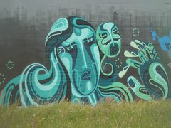 Mural behind the power station