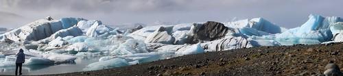 Panorama Jökulsálón Glacier Lagoon, South Iceland