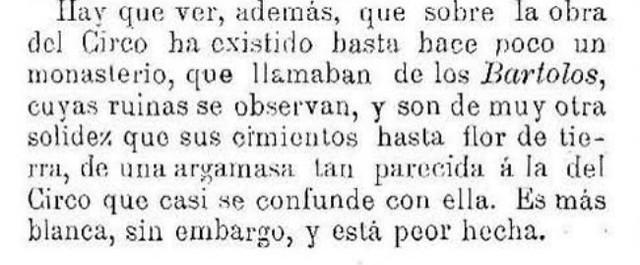 Mención a las ruinas de Los Bartolos (San Bartolomé de la Vega) aún en pie. 1 de julio de 1908 por Ventura F. López. Por esos mundos.
