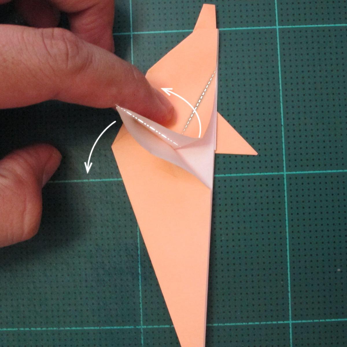 วิธีพับกระดาษเป็นรูปปลาโลมาแบบง่าย (Easy Origami Dolphin) 013