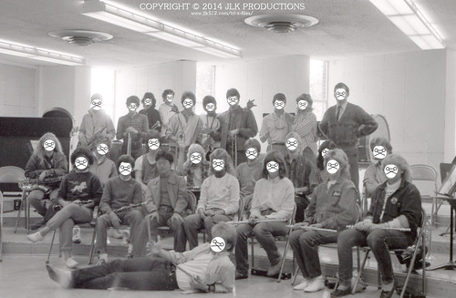 """Strange Band"": 1984 MHS Band Group Pic Art Project Version 2 (final version)"