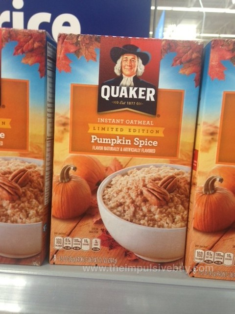 Quaker Limited Edition Pumpkin Spice Instant Oatmeal