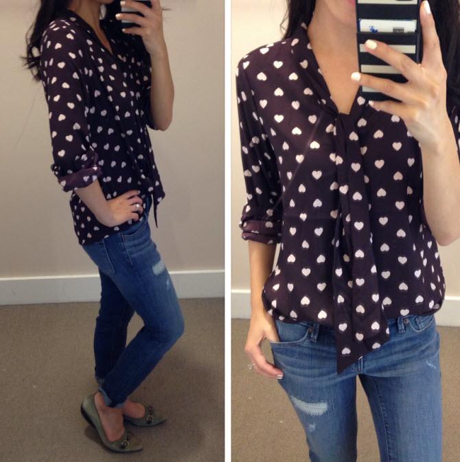 loft sweetheart blouse