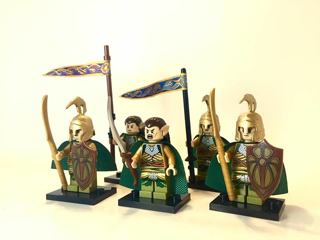 Lord elrond and his elf army in the battle of Dagorlad