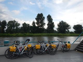 bike barge Bruges to Amsterdam