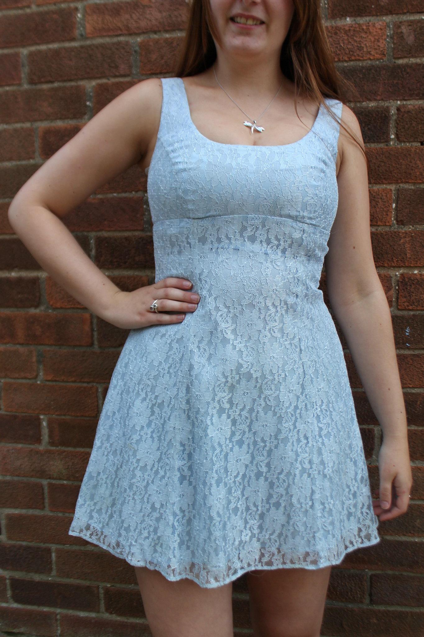 90s baby blue babydoll dress