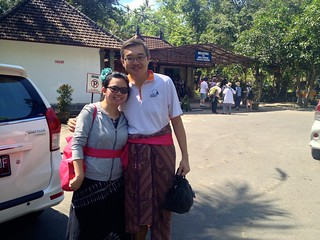 Couple in sarongs