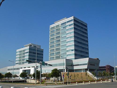 位於台中基地的中科管理局大樓;圖片來源:維基百科