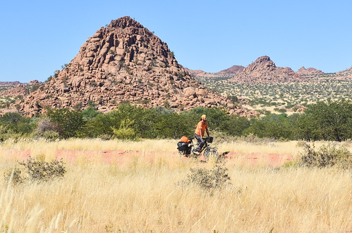 Cycling in Damaraland, Namibia