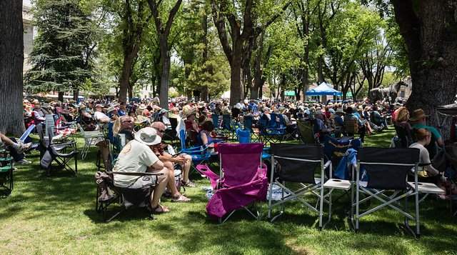 Crowd of Listeners at the Prescott Bluegrass Festival 2014