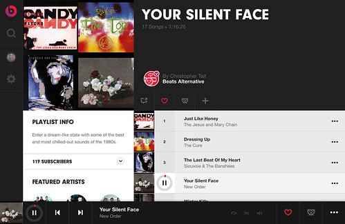 Listen to Your Silent Face on Beats Music