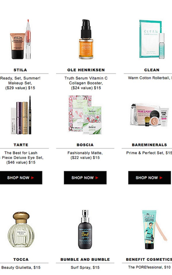 Sephora Sale They're all $15 and under