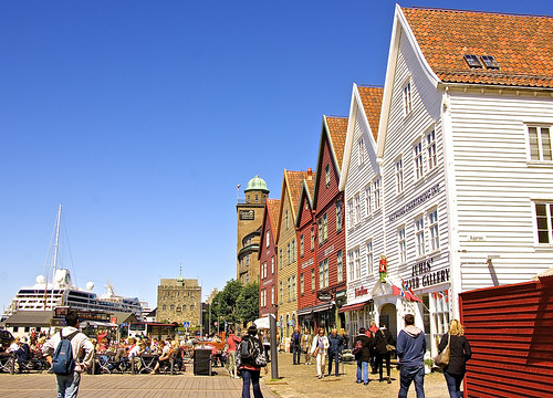 Colorful houses in Bergen