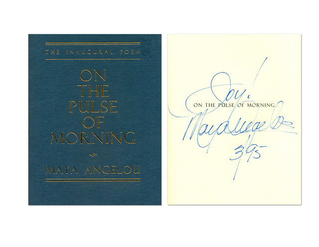 The Inaugural Poem - On the Pulse of Morning - Maya Angelou - Autograph