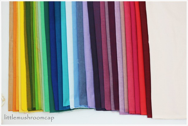 Rainbow Shot Cotton Kaffe Fasset