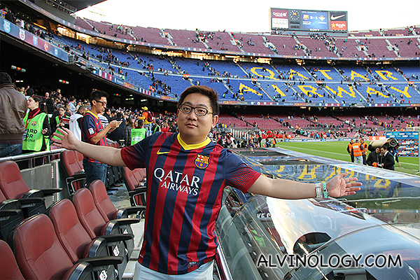 My parting shot with Camp Nou after the match