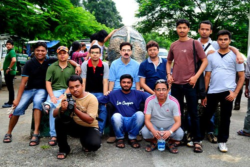 Team outside Gorumara Forest