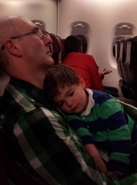 Yeah. Well. Eskil didn't sleep as brilliantly as we hoped between Melbourne and Dubai. Scott was a prince.