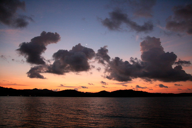 Sunrise at Telunas Private Island