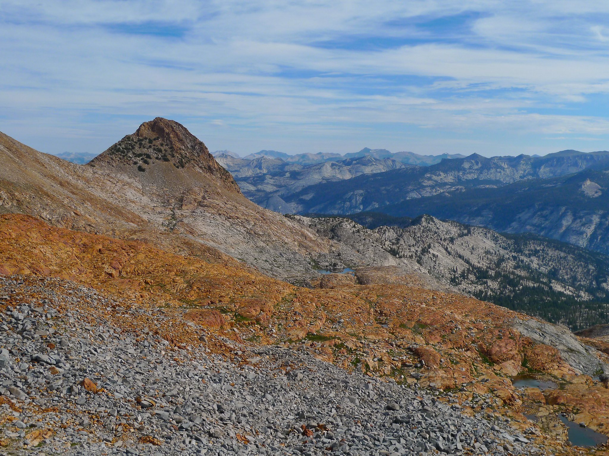 Looking northwest from Red Peak Pass