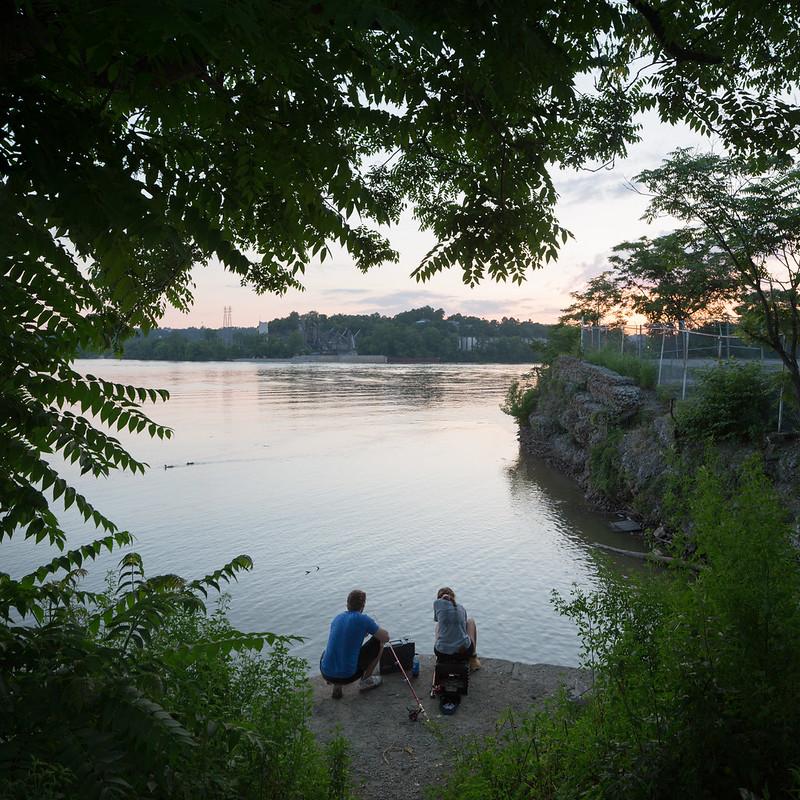 Fishing Along the Ohio River