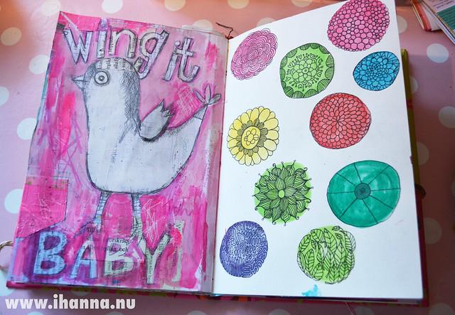 Art Journal Peek: Wing it Baby