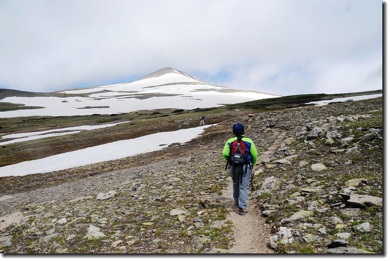 Hike to James' false summit