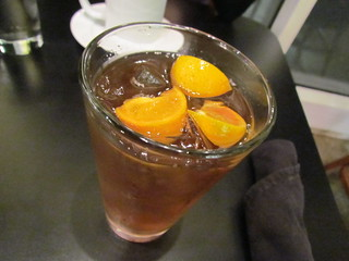 Tangerine Tea at Greens & Vines