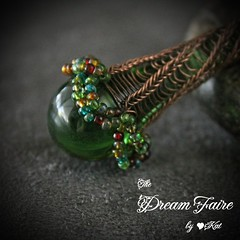 Green Fairy Flower Necklace Closeup