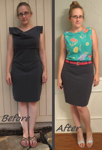 Grey Pencil Skirt - Before & After